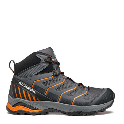 scarpa maveric mid iron gray orange